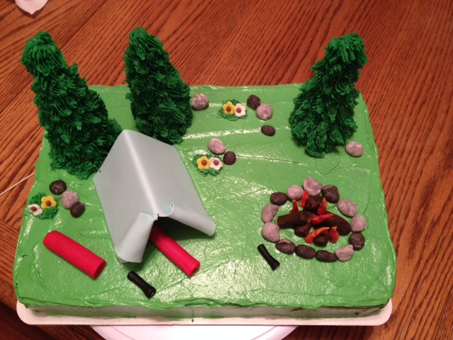 Camp Site Theme Cake