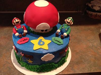Mario Brothers Theme Cake